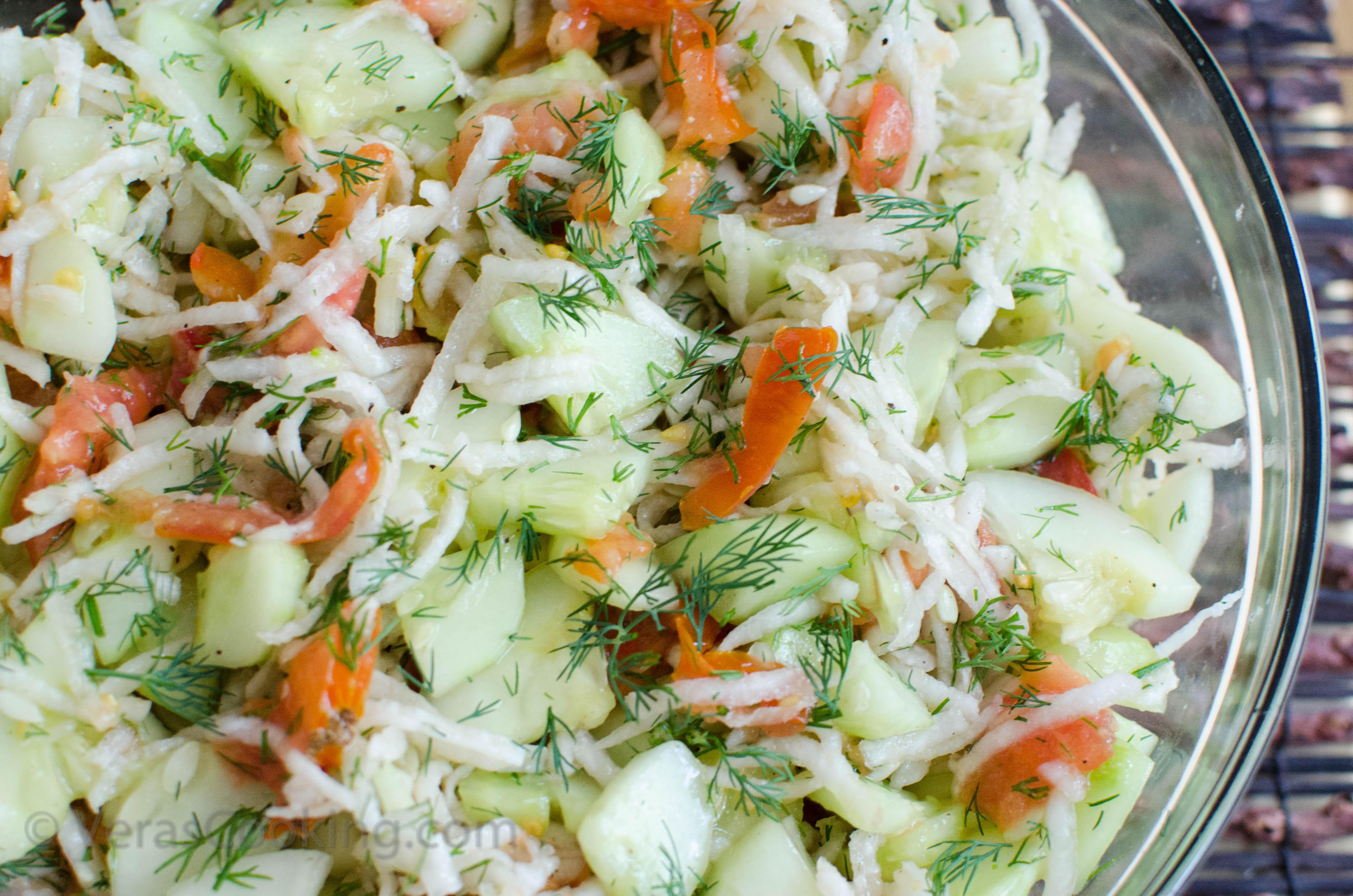 DAD'S VEGETABLE SALAD - Vera's Cooking